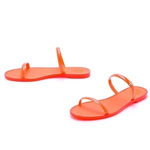 TORY BURCH Two Band Jelly Rubber Flat Sandals 7